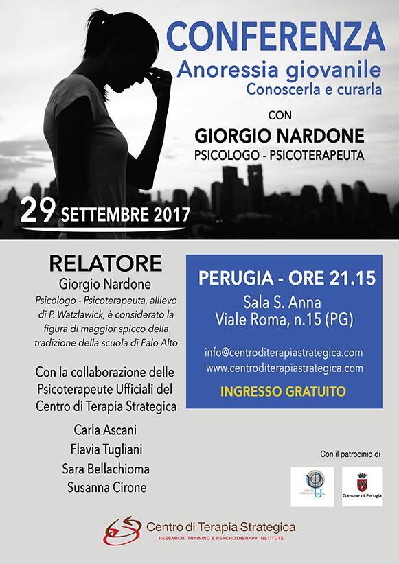 Locandina Conferenza Anoressia Giovanile Perugia